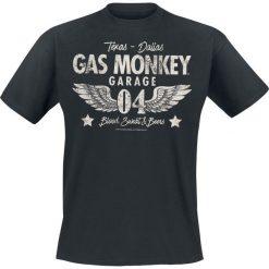T-shirty męskie z nadrukiem: Gas Monkey Garage 04 Wings T-Shirt czarny
