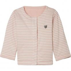 Bluza w kolorze jasnoróżowym. Czerwone bluzy dziewczęce rozpinane marki Steiff, z haftami, z bawełny. W wyprzedaży za 89,95 zł.