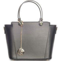 Torebki klasyczne damskie: Skórzana torebka w kolorze czarnym – 30 x 35 x 15 cm