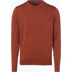 Swetry klasyczne męskie: Tommy Hilfiger – Sweter męski z dodatkiem jedwabiu, brązowy