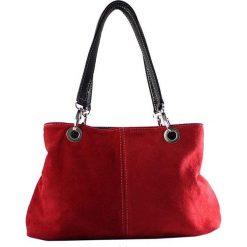Torebki i plecaki damskie: Skórzana torebka w kolorze czerwonym – 32 x 20 x 14 cm