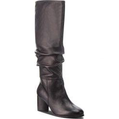 Kozaki EVA MINGE - Barcarrota 4AG 18SF1372616EF 101. Czarne buty zimowe damskie Eva Minge, ze skóry, na obcasie. W wyprzedaży za 519,00 zł.