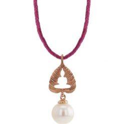Naszyjniki damskie: Naszyjnik w kolorze różowym z perłą słodkowodną