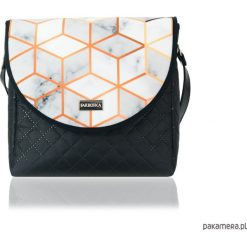 TOREBKA PURO 2056 MARBLED. Szare torebki klasyczne damskie Pakamera, w kolorowe wzory. Za 179,00 zł.