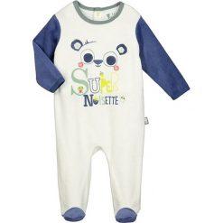 Śpiochy niemowlęce: Śpioszki w kolorze biało-granatowym