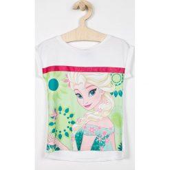 Blukids - Top dziecięcy Disney Frozen 98-128 cm. Szare bluzki dziewczęce marki Blukids, z motywem z bajki, z bawełny, z okrągłym kołnierzem. Za 49,90 zł.