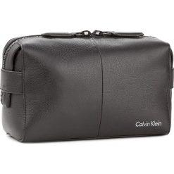 Kosmetyczka CALVIN KLEIN BLACK LABEL - Double Tack Washbag K50K503484 001. Czarne kosmetyczki męskie marki Calvin Klein Black Label. Za 599,00 zł.