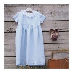 Sukienka lniana Little Susie. Niebieskie sukienki dziewczęce Pakamera. Za 199,00 zł.