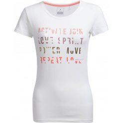 T-shirt damski TSD602 - biały - Outhorn. Białe t-shirty damskie Outhorn, z bawełny. W wyprzedaży za 24,99 zł.