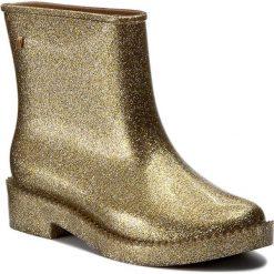 Kalosze MELISSA - Rain Drop Boot Ad 32185 Glass Silver Glitter 03586. Żółte buty zimowe damskie Melissa, z materiału. W wyprzedaży za 279,00 zł.