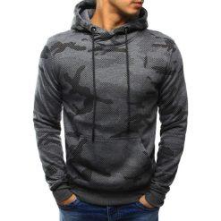 Bluzy męskie: Bluza męska camo antracytowa z kapturem (bx3219)