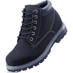 Kozaki sznurowane Sneakers bonprix czarny. Czarne glany męskie bonprix, na sznurówki. Za 239,99 zł.