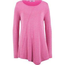 Sweter z błyszczącą nitką, długi rękaw bonprix lila-różowy - metaliczny srebrny. Szare swetry klasyczne damskie marki Mohito, l, z asymetrycznym kołnierzem. Za 89,99 zł.