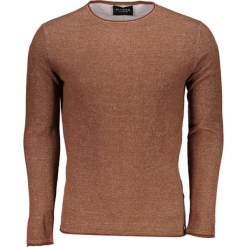 Sweter w kolorze brązowym. Brązowe swetry klasyczne męskie Guess, m, z okrągłym kołnierzem. W wyprzedaży za 239,95 zł.