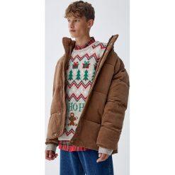 Szary świąteczny sweter. Szare swetry klasyczne męskie Pull&Bear, m. Za 109,00 zł.