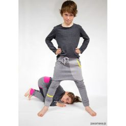 Spodnie męskie: Spodnie dziecięce 104 -152 cm dres szary + limon