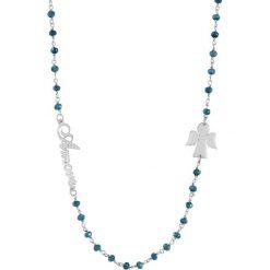 Naszyjniki damskie: Naszyjnik w kolorze niebiesko-srebrnym
