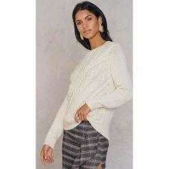 Swetry klasyczne damskie: Rut&Circle Sweter w warkocze Elsa – White
