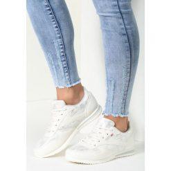 Buty sportowe damskie: Srebrno-Białe Buty Sportowe Riella