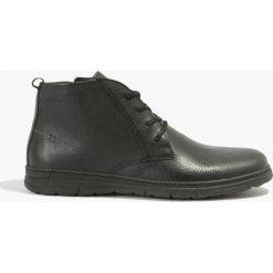 Buty zimowe męskie: Kozaki czarne Antonio