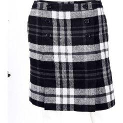 Spódnica w kratę bonprix czarno-biały w kratę. Białe spódniczki marki bonprix, w koronkowe wzory, z koronki. Za 74,99 zł.