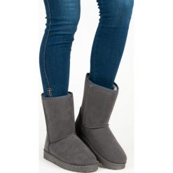 WYSOKIE ŚNIEGOWCE VINCEZA. Szare buty zimowe damskie marki Vinceza, na wysokim obcasie. Za 89,90 zł.