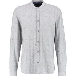 Koszule męskie na spinki: Suit JAKE MANDARIN Koszula medium grey melange