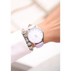 Zegarki damskie: Biało-Fioletowy Zegarek Don't Run Away