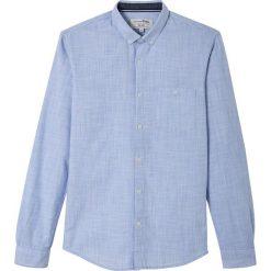 Koszule męskie na spinki: Gładka koszula z długim rękawem