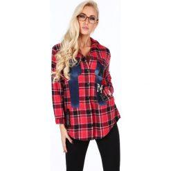 Koszula flanelowa w kratkę czerwona RR1920. Czerwone koszule damskie w kratkę Fasardi, l. Za 179,00 zł.