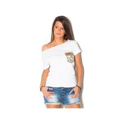 Damski T-shirt Simply Unique WHITE. Białe t-shirty damskie marki beYOUnique, xs, w kolorowe wzory, z bawełny. Za 107,00 zł.