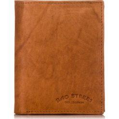 Brązowy SKÓRZANY PORTFEL MĘSKI BAG STREET. Brązowe portfele męskie marki Bag Street, z materiału. Za 49,00 zł.