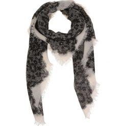 Chusty damskie: Chusta w kolorze kremowo-szarym – 100 x 100 cm