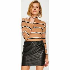 Answear - Sweter. Różowe golfy damskie marki ANSWEAR, l, z bawełny, z krótkim rękawem. Za 99,90 zł.