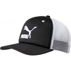 Puma Czapka Z Daszkiem Archive Trucker Cap Adult Black. Czarne czapki męskie Puma, z haftami, sportowe. W wyprzedaży za 55,00 zł.