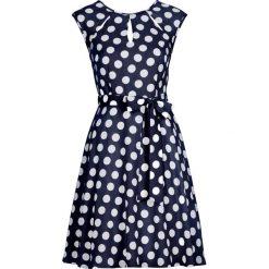 Sukienki: Sukienka w groszki bonprix ciemnoniebiesko-biały w groszki