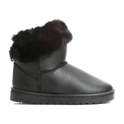 Buty zimowe chłopięce: Czarne Śniegowce Black Snow