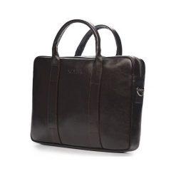 Torba Solier Skórzana męska torba na laptopa Ciemny brąz Solier William. Czarne torby na laptopa marki Solier. Za 399,00 zł.