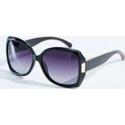 Okulary przeciwsłoneczne damskie aviatory: Okulary przeciwsłoneczne z polaryzacją - Czarny