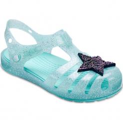"""Sandały """"Isabella"""" w kolorze turkusowym. Niebieskie sandały dziewczęce marki geox kids, z gumy. W wyprzedaży za 78,95 zł."""