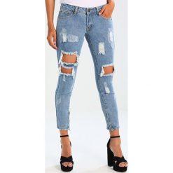 Liquor N Poker REBEL Jeansy Slim Fit mid indigo. Niebieskie jeansy damskie Liquor N Poker, z bawełny. Za 179,00 zł.