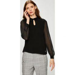 Trussardi Jeans - Bluzka. Szare bluzki asymetryczne Trussardi Jeans, z jeansu, casualowe. W wyprzedaży za 379,90 zł.