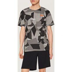 Piżamy męskie: Piżama z geometrycznym nadrukiem – Szary