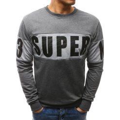 Bluzy męskie: Bluza męska z nadrukiem antracytowa (bx3461)