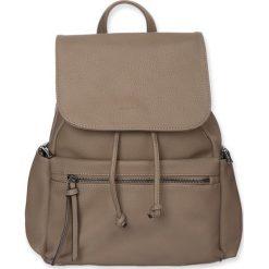 """Plecaki damskie: Plecak """"Capri"""" w kolorze szarobrązowym – 32 x 28 x 13 cm"""