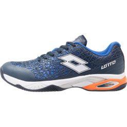 Lotto VIPER ULTRA III CLY  Obuwie do tenisa Outdoor blu avi/white. Niebieskie buty trekkingowe męskie Lotto, z materiału, na golfa. W wyprzedaży za 221,40 zł.