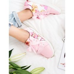Różowe Buty Sportowe Lucky Burble. Czerwone buty sportowe damskie marki KALENJI, z gumy. Za 69,99 zł.