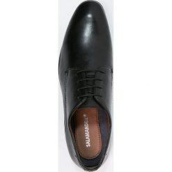Salamander STEEL Eleganckie buty black. Czarne buty wizytowe męskie Salamander, z materiału, na sznurówki. Za 409,00 zł.