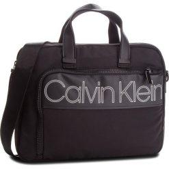 Torba na laptopa CALVIN KLEIN - Double Logo Laptop B K50K503902  001. Czarne torby na laptopa marki Calvin Klein, z materiału. Za 599,00 zł.