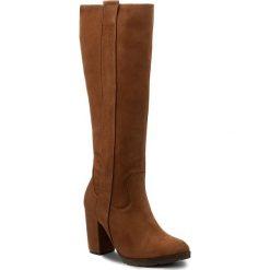 Kozaki SERGIO BARDI - Arborio FW127278417AF 404. Brązowe buty zimowe damskie Sergio Bardi, z nubiku, przed kolano, na wysokim obcasie. W wyprzedaży za 309,00 zł.